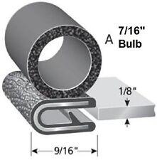 "1/8"" Black Trim w/ 7/16"" Bulb on Side Door Rubber Edge LoK Trailer PVC RV Lip"