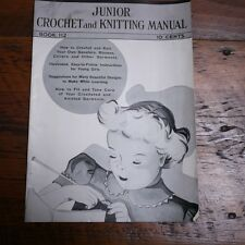 Vintage 1937 Junior Crochet & Knitting Manual Patterns w/ Photos Book #112