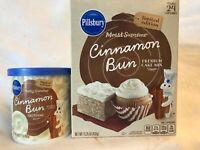 Cinnamon Bun Cake Mix & Frosting By Pillsbury Limited Edition Free Ship