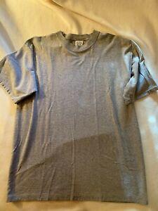 Anchor Blue Men's Short Sleeve T-shirt Gray woven Medium NWOT cotton blend VTG