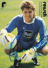 Toni SCHUMACHER orig.Autogramm AK 80er Jahre handsig. DFB, 1.FC Köln, WERBE AK