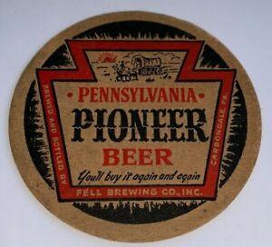 Vintage, Pioneer Pennsylvania Beer Cardboard Coaster (3-1/2 Inch Dia.)