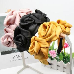 New Ladies Rose Flower Headband Hairband Wide Alice Hair Band Hoop Accessories
