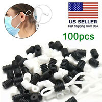 100pcs Soft Elastic Cord Stopper Silicone Locks Toggles Lanyard Rope Buckle