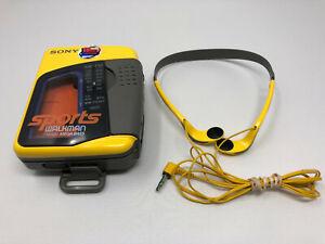 SONY SPORTS WALKMAN WALK MAN WM-FS397 RADIO CASSETTE PLAYER WITH HEADPHONES