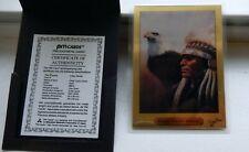 1991 PM Cards CHIEF CRAZY HORSE 1 Gram 999.9 Fine Gold Card