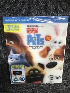 the Secret Life Of Pets - 3D Blu Ray + Blu Ray + Digital. Lenticular Sleeve. NEW