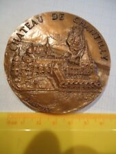 MEDAILLE BRONZE CHATEAU CHANTILLY 60  Signée HAROUEL FRENCH MEDAL médaille