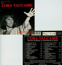 CORA VAUCAIRE  récital intégral au théatre de la ville, 1973