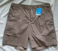 Columbia Men's Cargo Shorts, Brown, Size 42, Inseam 10""