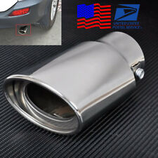 Universal Chrome Stainless Steel Car Exhaust Pipe Muffler Tip Tail Throat 145mm