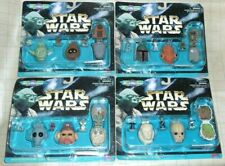Star Wars Micro Machines Mini Head Collection Complete Set I-IV  4-Back