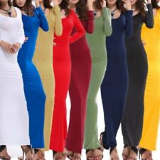 US Women Long Sleeve Bodycon Pencil Dress Evening Cocktail Party Long Maxi Dress