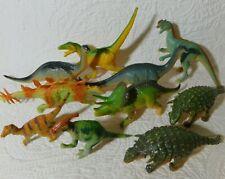 10 Vintage Tm 1999-02 Dinosaur Figures Ankylosaurus Apatosaurus Triceratops