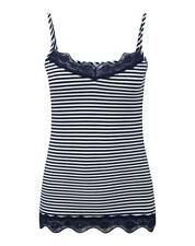 Pure Collection Lace Jersey Camisole - Navy & White Stripe - Size UK 18 RRP £40