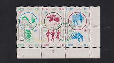 DDR 1039-44 Olympia 1964 Zusammendruck mit Eckrand gestempelt