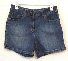 "St John's Bay Women Size 6 Classic waist  Blue Jean Shorts W 32  inseam 5"""