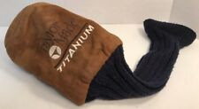 TaylorMade Titanium 1 Fairway Headcover Black and Tan Head Cover