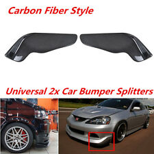 2x Carbon Fiber Style Car Front Bumper Lip Diffuser Splitters Anti-scratch Strip