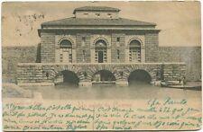 1902 Livorno saluto Dogana Acqua mura Digne Basses Alpes France FP B/N VG