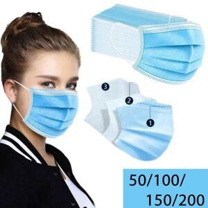 Maske Atemschutzmaske Mundschutz Virus Atemschutz 3 lagig OP Nase Mund 100 Stück