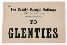 (I.B) County Donegal Railways Joint Committee : Parcel Label (Glenties)