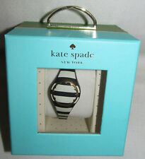 Kate Spade Black White Activity Fitness Steps Tracker Scallop Ksa31207 Bracelet