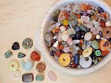 2 lb Mixed Gemstone gem stone Bead Lot. Crystal Doughnut Pendant WHOLESALE BULK