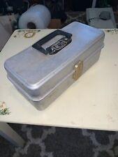 "Vintage Umco Aluminum Tackle BOX Model 101A-W/ Gold Hardware-13x6x5""!"
