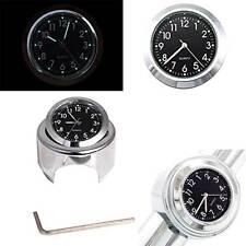 Reloj de Manillar Impermeable Motocicleta Manillar de Montaje Reloj De Accesorios De Moto