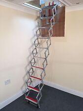 Aluminium Concertina Loft / Attic Ladder - 9ft / 2.74m - Fits tiny loft access'