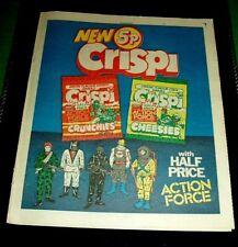 Action Man Action Force Offer 5 Figures Shown Stunning Advert 1983 Crispi
