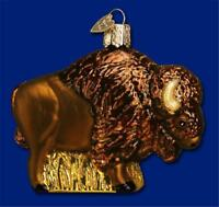 BUFFALO GLASS OLD WORLD CHRISTMAS WESTERN STYLE HOME ON THE RANGE ORNAMENT 12131