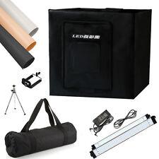 """Photo Studio Video 24"""" Lighting Tent Softbox Cube Box 126-LED Light Backdrop Kit"""