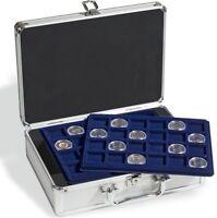 Münzen Sammelkoffer für 144 stück 2 Euro Münzen 33 mm  mit 6 Münztableaus