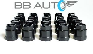 20 NEW BLACK LUG NUT COVERS CAPS CAMARO CAVALIER S10 BLAZER JIMMY SONOMA REGAL