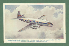 C1950'S AFD BANNISTER AEROPLANE POSTCARD - VICKERS ARMSTRONG VISCOUNT 720