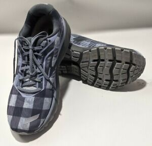 Brooks Ghost 12 Flannel Plaid Limited Edition Women's Shoes Sz 8.5 blue grey