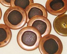 NEAT Set 11 LARGE Vintage New Copper top METAL buttons 1 & 1/8""