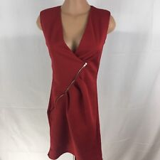 CODIGO Womens Dress Red Polyester Spandex Size: MD Made in USA