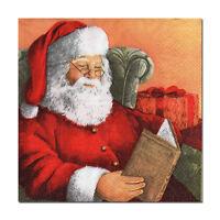 4 lose Motivservietten Servietten Napkins Weihnachten Weihnachtsmann (447)