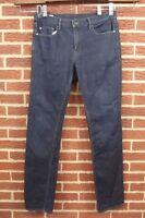 Banana Republic Mens Slim Straight Leg Jeans Sz 34 W x 34 L Dark Blue Wash