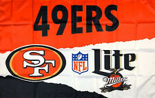 San Francisco 49ers Miller Lite NFL Flag 3x5 ft Sports Banner Man-Cave Garage