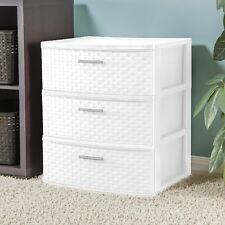 White Storage Unit Organizer Chest Cabinet 3 Drawer Bed Room Bath Dorm Dresser