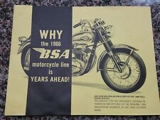 1966 BSA Motorcycles Promotional Sales Booklet Twin Cylinder