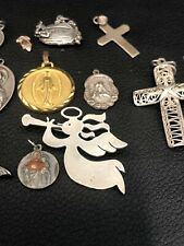 STERLING SILVER Religious Pendants LOT 65 GRAMS SCRAP 925  ect. #17a