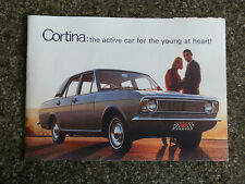1967 FORD CORTINA SALES BROCHURE  COVERS ALL MODELS INC THE GT 100% GUARANTEE