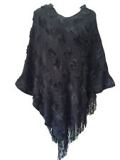 Women Batwing Cape Poncho Knit Top Cardigan Pullover Sweater Coat Outwear Jacket