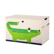 3 Sprouts Kids Toy Chest - Storage Trunk for Boys and Girls Room, Crocodile