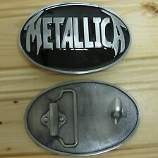 Metallica music belt buckle